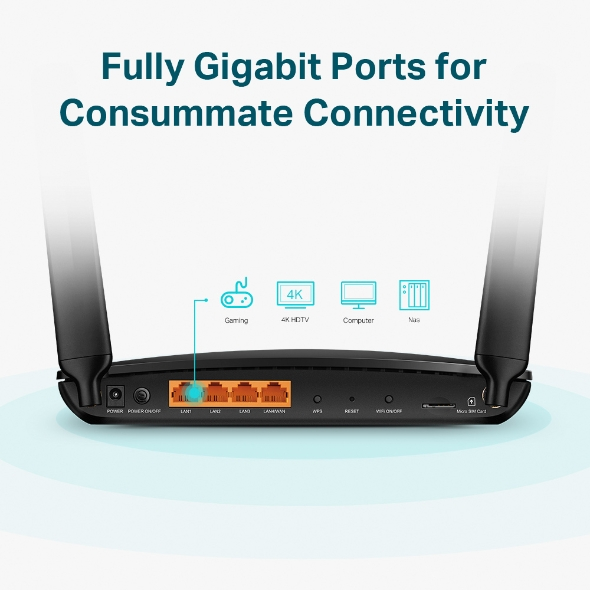 TP-Link MR600 4G Router with Gigabit