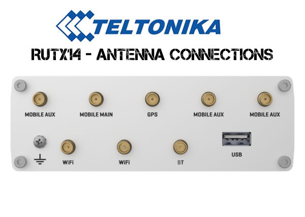 RUTX14 Antenna Connections