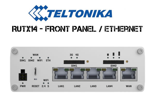 RUTX14 4G Router Front Panel